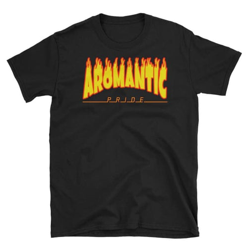 T-Shirt - Aromantic Flames Black / S