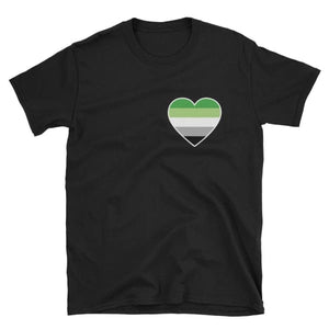 T-Shirt - Aromantic Heart Black / S