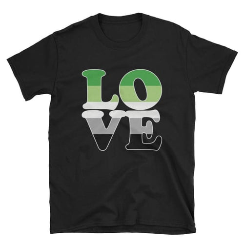 T-Shirt - Aromantic Love Black / S