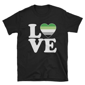 T-Shirt - Aromantic Love & Heart Black / S