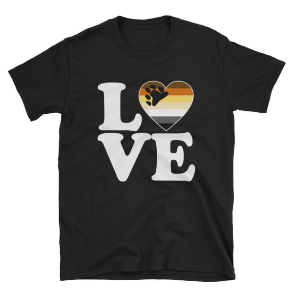 T-Shirt - Bear Pride Love & Heart Black / S