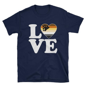 T-Shirt - Bear Pride Love & Heart Navy / S