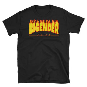 T-Shirt - Bigender Flames Black / S