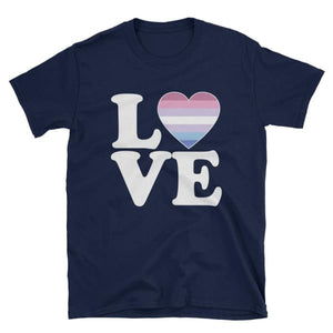 T-Shirt - Bigender Love & Heart Navy / S