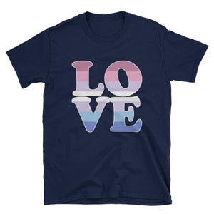 T-Shirt - Bigender Love Navy / S