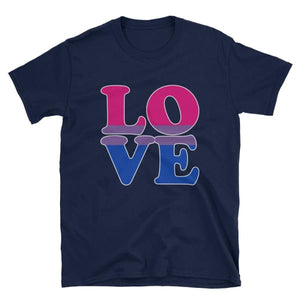 T-Shirt - Bisexual Love Navy / S