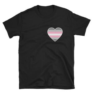 T-Shirt - Demigirl Heart Black / S