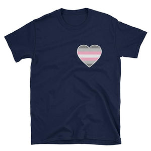 T-Shirt - Demigirl Heart Navy / S