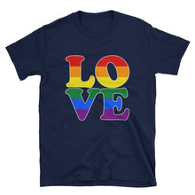 T-Shirt - Lgbt Love Navy / S