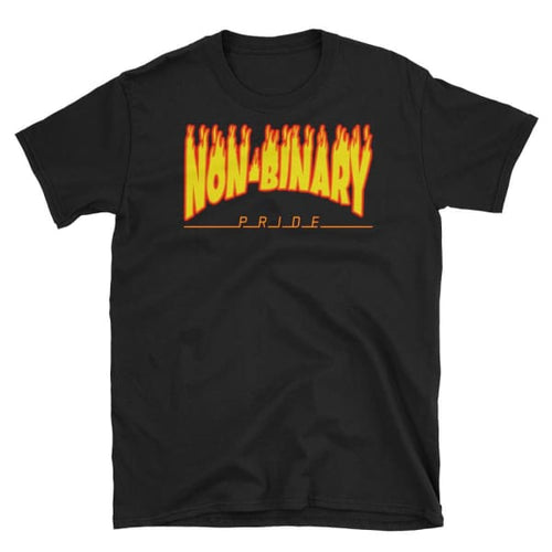 T-Shirt - Non-Binary Flames Black / S