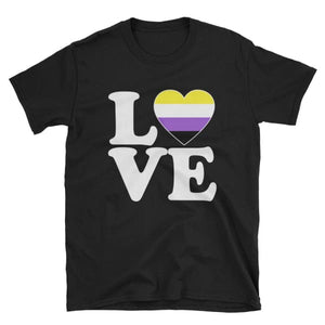 T-Shirt - Non Binary Love & Heart Black / S