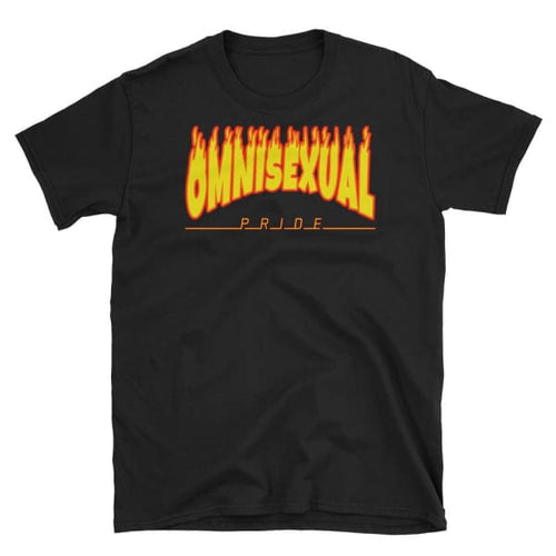T-Shirt - Omnisexual Flames Black / S