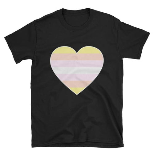 T-Shirt - Pangender Big Heart Black / S