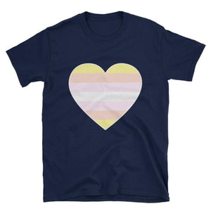 T-Shirt - Pangender Big Heart Navy / S