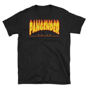 T-Shirt - Pangender Flames Black / S