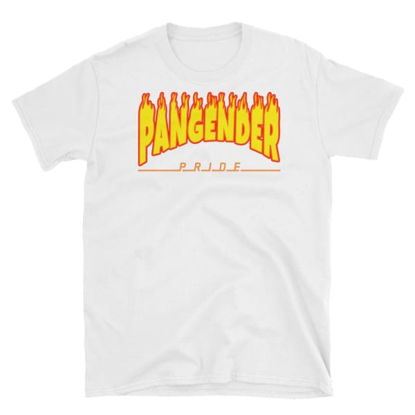 T-Shirt - Pangender Flames White / S