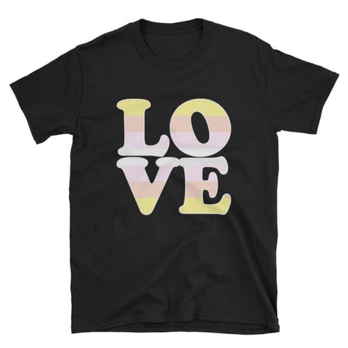 T-Shirt - Pangender Love Black / S