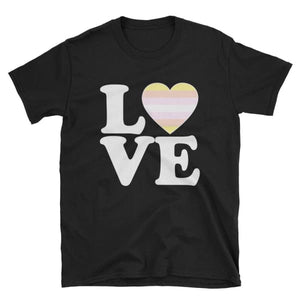 T-Shirt - Pangender Love & Heart Black / S