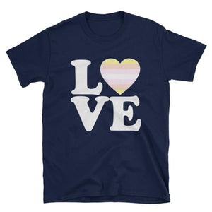 T-Shirt - Pangender Love & Heart Navy / S