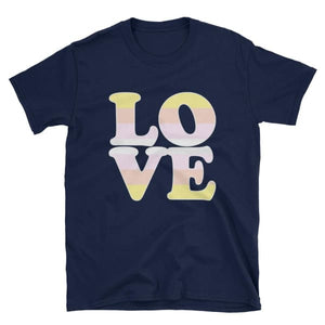 T-Shirt - Pangender Love Navy / S