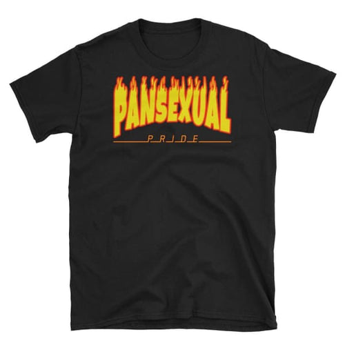 T-Shirt - Pansexual Flames Black / S