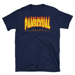 T-Shirt - Pansexual Flames Navy / S