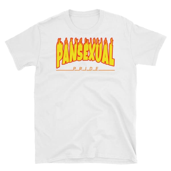 T-Shirt - Pansexual Flames White / S