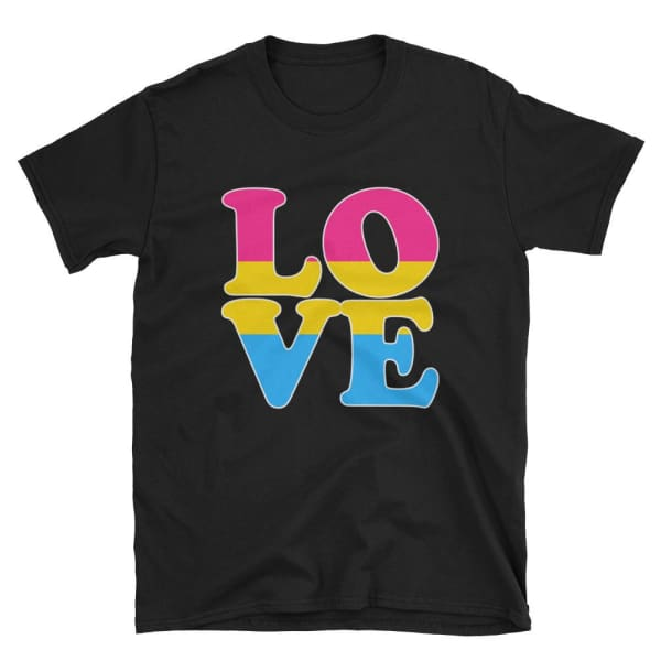 T-Shirt - Pansexual Love Black / S