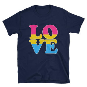 T-Shirt - Pansexual Love Navy / S