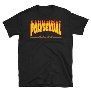 T-Shirt - Polysexual Flames Black / S