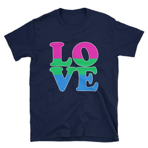 T-Shirt - Polysexual Love Navy / S