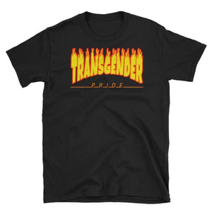 T-Shirt - Transgender Flames Black / S