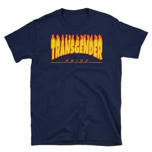 T-Shirt - Transgender Flames Navy / S