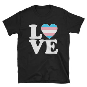 T-Shirt - Transgender Love & Heart Black / S