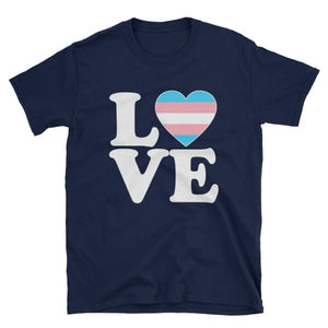 T-Shirt - Transgender Love & Heart Navy / S