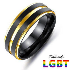 Titanium Ring - Confidence Us Size 10 / Gold