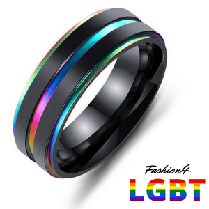 Titanium Ring - Confidence Us Size 10 / Rainbow