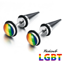 Tunnels Illusion - Rainbow & Cone Earrings