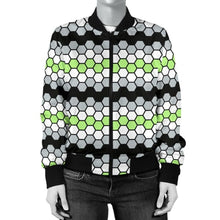 Womens Bomber Jacket - Agender Honeycomb