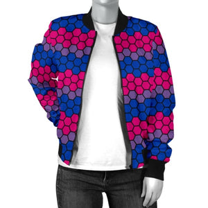 Womens Bomber Jacket - Bisexual Honeycomb