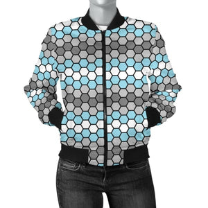 Womens Bomber Jacket - Demiboy Honeycomb