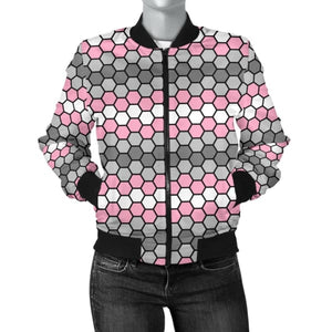 Womens Bomber Jacket - Demigirl Honeycomb