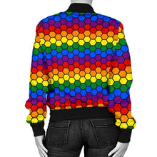 Womens Bomber Jacket - Lgbt Honeycomb
