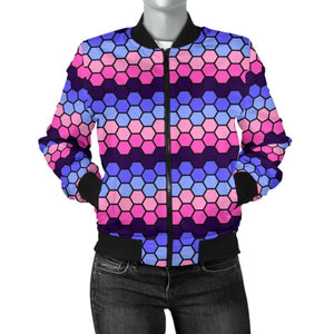 Womens Bomber Jacket - Omnisexual Honeycomb