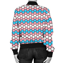 Womens Bomber Jacket - Transgender Honeycomb