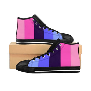 Womens High-Top Sneakers - Omnisexual Us 9 Shoes