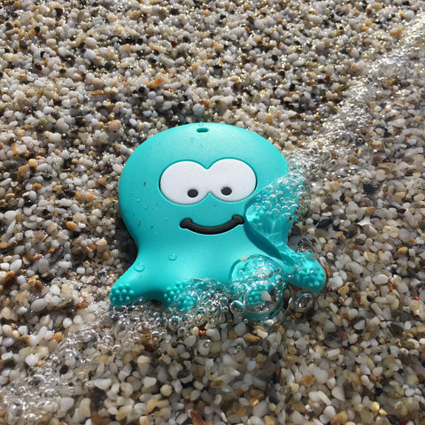 Dark Mint Octopus Teether