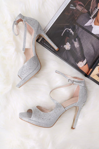 Val Metallic Block Heels
