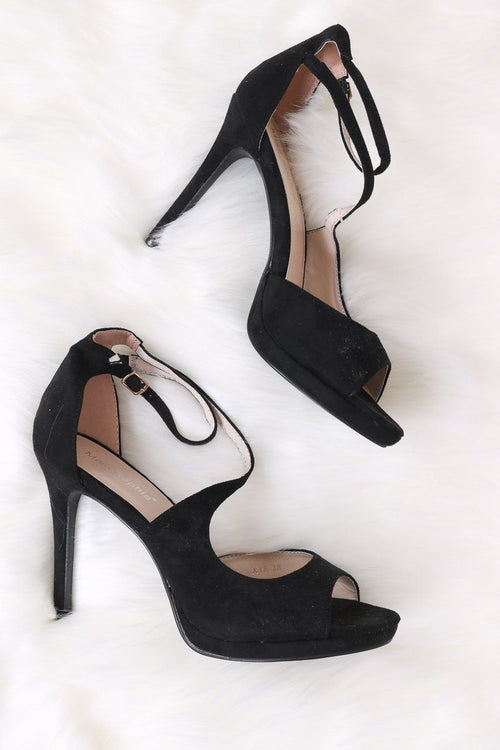 Tammy Open Toe Heels Hachu 3 Black
