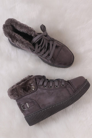 Malika Velour Ribbon Lace-Up Trainers